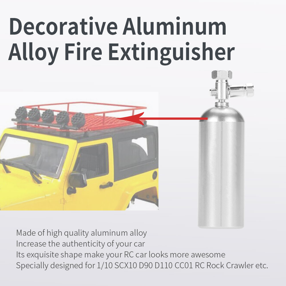 Decorative Fire Extinguisher decorative aluminum alloy fire extinguisher rc rock crawler