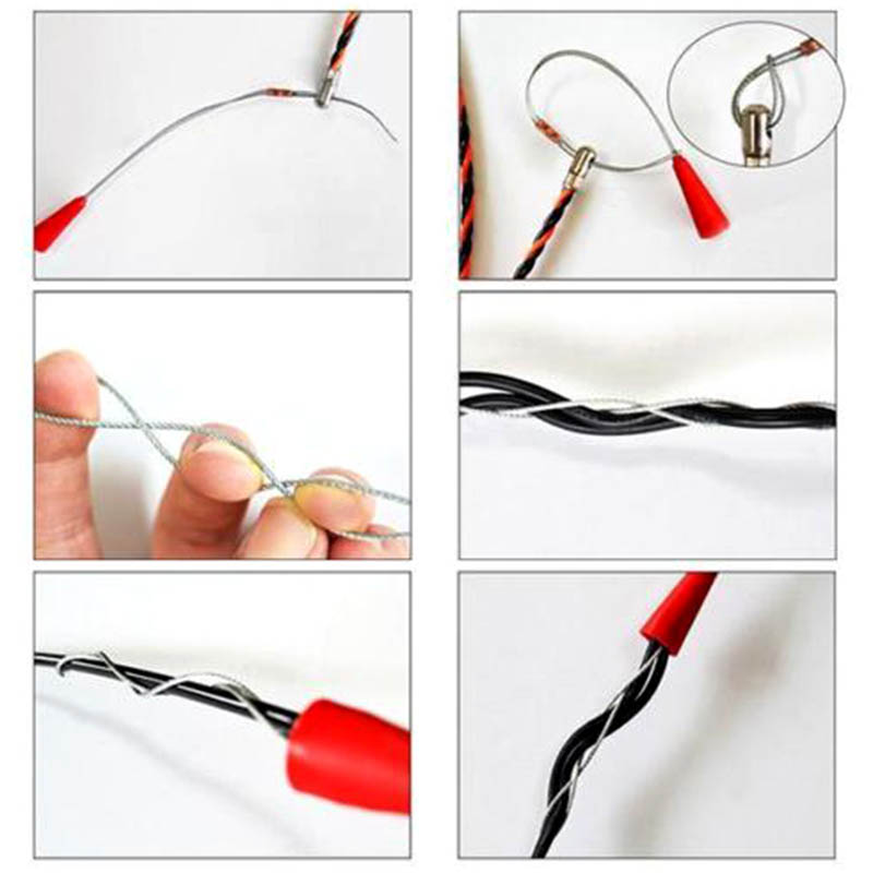 Купить с кэшбэком Electrician Wire Threading Device Binders Kit Cable Guider Puller Wiring Installation Aid Tool LO88