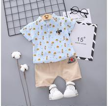 купить 2019 Summer Toddler Infant Clothes Suits Baby Girls Clothing Sets  Cartoon T Shirt Shorts Kids Children Casual Suit по цене 545.13 рублей
