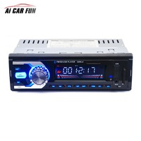 1 Din FM Bluetooth Auto Audio In dash 12V Car Radio Support Stereo Music Remote USB port Hands free MP3 Player