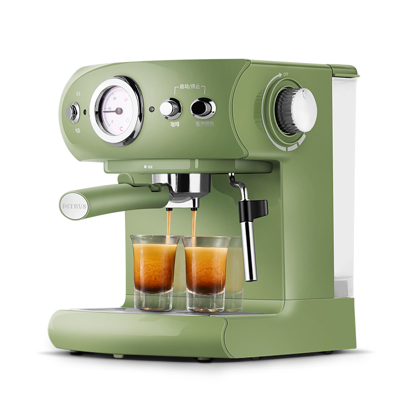 Fully Semi automatic Coffee Machine Retro Style Espresso Pump Type Household and Commercial Steam Type Milk