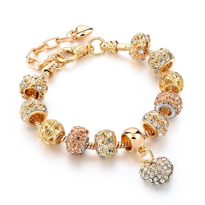 Crystal Heart Charm Bracelet 13