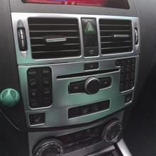 Для Mercedes Benz C class W204 внутренняя отделка кондиционер CD Управление Панель рама автомобиля Styling наклейки крышка Автоматический аксессуары