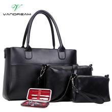 2016 New Fashion Set 4Pcs Women Messenger Bags handbags shoulder Bag Purse Wallets Famous Brands Solid