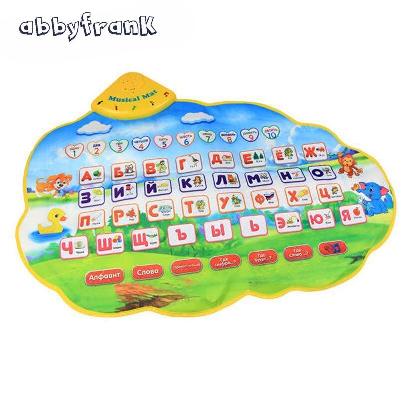 Abbyfrank ruso juguete vocal carteles electrónicos alfabeto bebé musical sonido animal Aprendizaje de juguete educativo para los niños