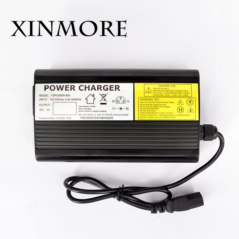 XINMORE 54.6V 5A 4A 3A Lithium Battery Charger For 48V 5A E-bikeo Battery Tool Power Supply for TV Receivers & Electric Tool
