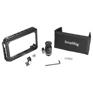 "Image 3 - SmallRig Monitor Cage Kit for Blackmagic Design Video Assist 5"" Monitor with HDMI Clamp Sunhood Ballhead Cold Shoe 1981"