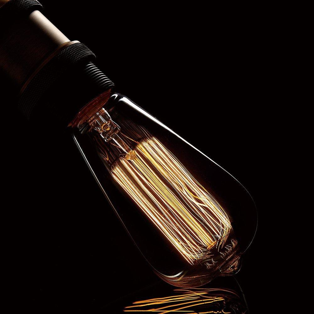 4pcs/lot Vintage Edison bulb 220V incandescent light Lamp E27 40W decorative light bulb filament bulb A19 G80 G95 G125 ST64 T10