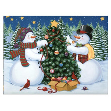 DIY Diamond Painting Winter snowman christmas tree snow scenery diamond embroidery full painting