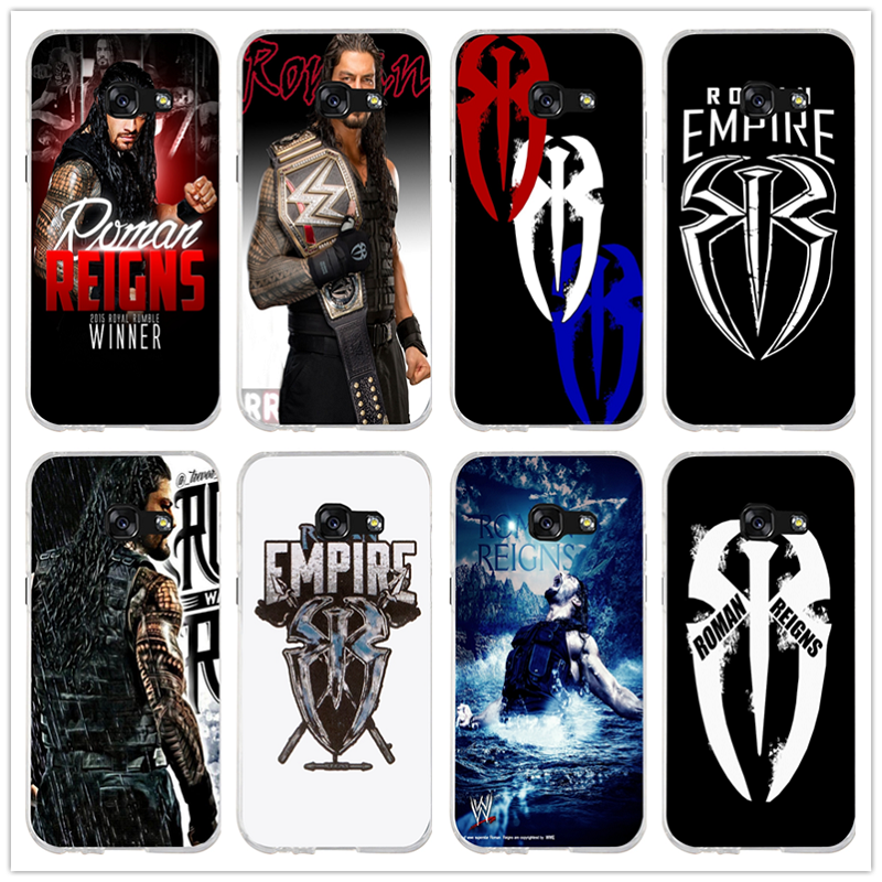 roman reigns logo spider wrestling silicone soft phone case for