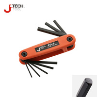 Jetech Set Of 8pcs Hex Fold Up Keys Folding Hex Key L Wrench Set Metric Scale