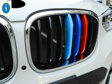 Yimaautotrims Front Mesh Grille Cover Trim Insert Mesh Frame Styling Cover 3 Colors For BMW X3 G01 2018 2019 2020 dot mesh insert crochet trim shirt