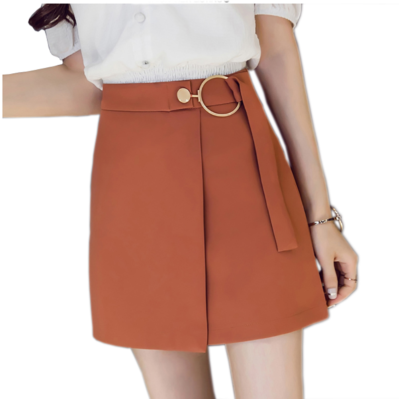 9ea91fa8a Falda corta coreana elegante delgada para Mujer Primavera Verano Irregular  de encaje Faldas Saia ...