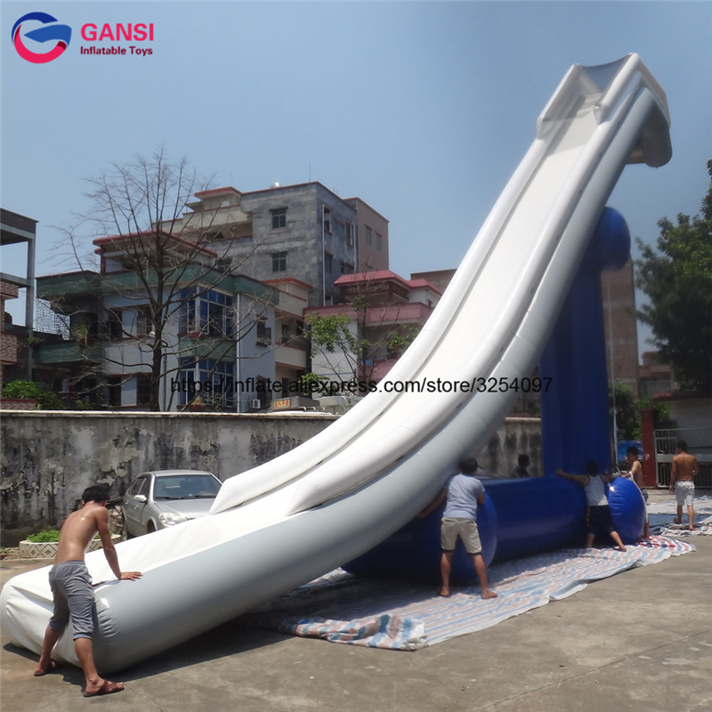 Commercial garde floating water inflatable Yacht Floating Water Slide for Boat ocean pvc material inflatable floating water slide for sales lake inflatable water slides yacht slide water slide boat