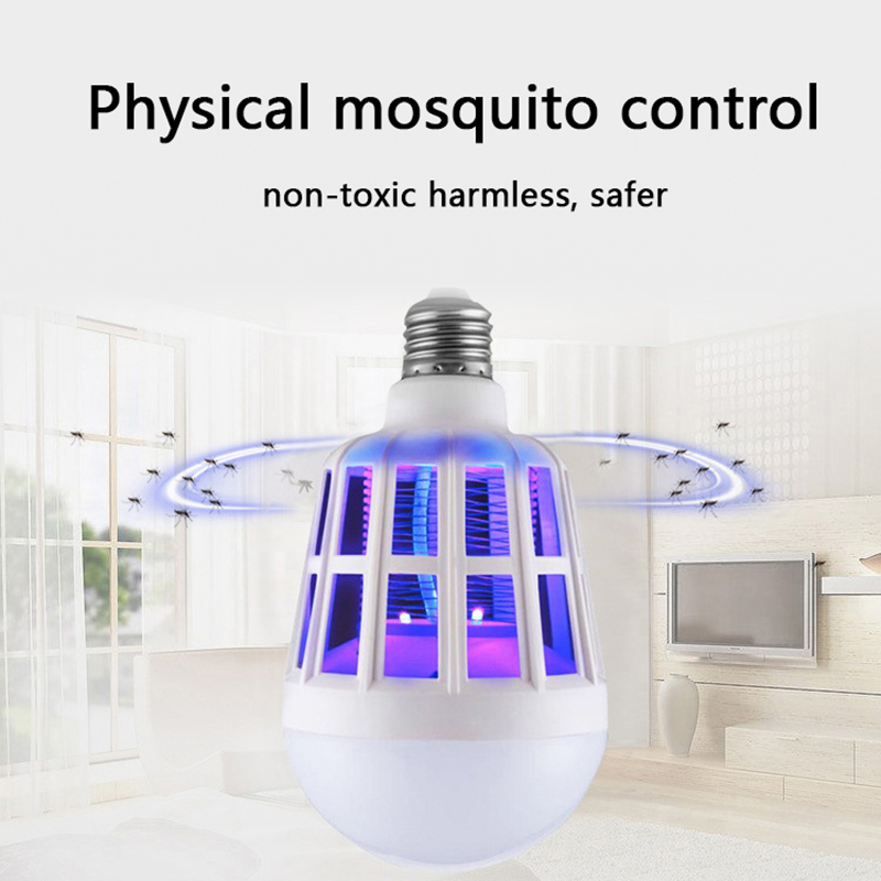 Z40Litwod  220V Electric Mosquito Killer Bulb Anti Mosquito Lamp UV Light Lighting Mosquito Control Dual-Purpose Lamp LED Bulb