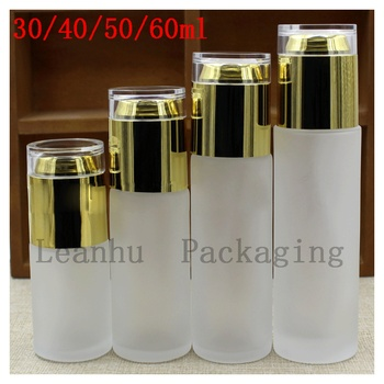A Variety of Capacity Empty Cosmetics Packaging Container,Women's Personal Care Frosted Glass Essence Lotion Spray Bottle