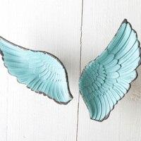 Wing Single Hole Small Handle Modern Minimalist Children's Room Wardrobe Door Art Knob and Pull Blue Wings Drawer Handle