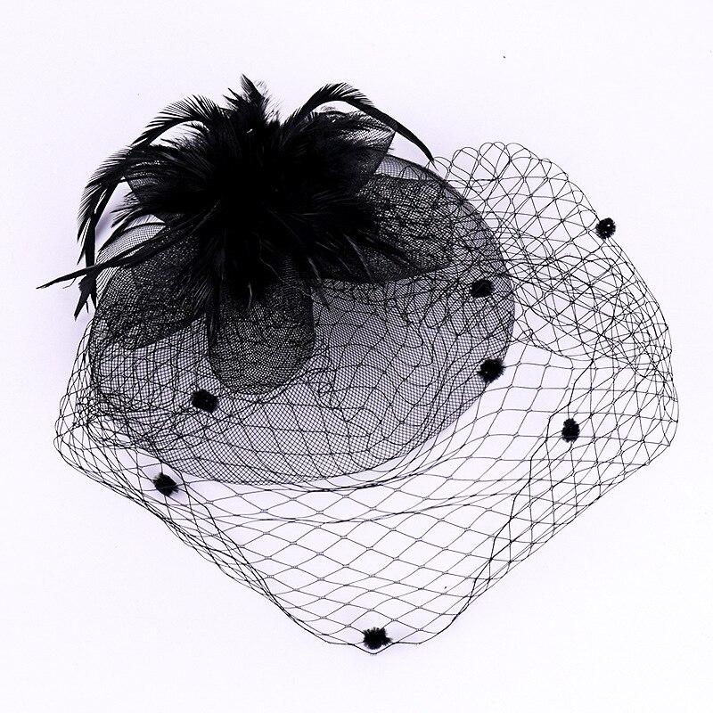 hairpin vintage preto nupcial chapéus para as