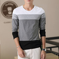 2017 Autumn sweaterS New Brand Fashion Men Slim Fit striped Long Sleeve Cotton O Neck Tops Homme Men Size M-3XL H1
