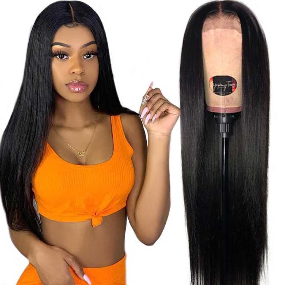 180% Brazilian Lace Front Wig 13x4  Lace Front Human Hair Wigs Free Part Swiss Lace Straight Front Wigs For Black Women