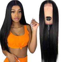 150% Brazilian Lace Front Wig 13x4  Human Hair Wigs Free Part Swiss Straight For Black Women