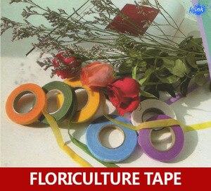 15 шт./лот, профессиональная Цветочная бумажная лента, цветная Цветочная лента для вышивки, скрапбукинговая лента для цветов