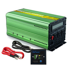 US standard 12V 110V 120V pure sine wave power inverter 1500w 3000w peak 60Hz converter with Remote controller