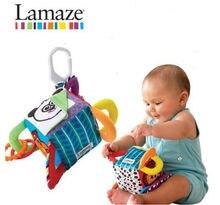 Candice guo plush toy colorful baby cloth cube creat peekaboo Rattle Mobile block bed hang panda bird style birthday gift 1pc