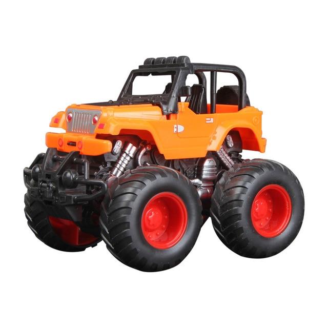 2018 New 1 Piece Monster Truck Inertia Kids Toy Vehicles Baby Boys Super Cars Pull Back Blaze Truck Children Gift Toys Bus Drop