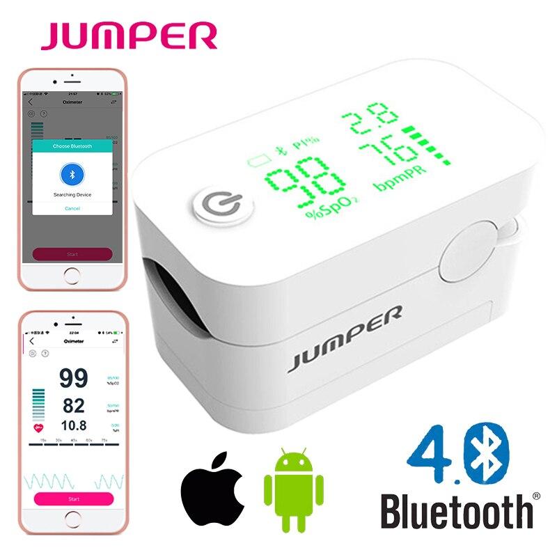 Jumper New Oxímetro de pulso Dedo Com Bluetooth Dedo Oxímetro de pulso de dedo LED Oxímetros de pulso Saturação Oxímetro De Pulso