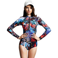 New Women Sexy Bathing Suit Retro Vintage One Piece Swimwear Floral Print Beach Wear Plus Size