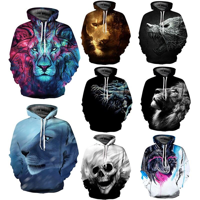 Men's Clothing Skeleton 2019 3d Printed Hoodie Mens Hoodie Casual Sportswear Mens Coat Fashion New Long-sleeved Coat