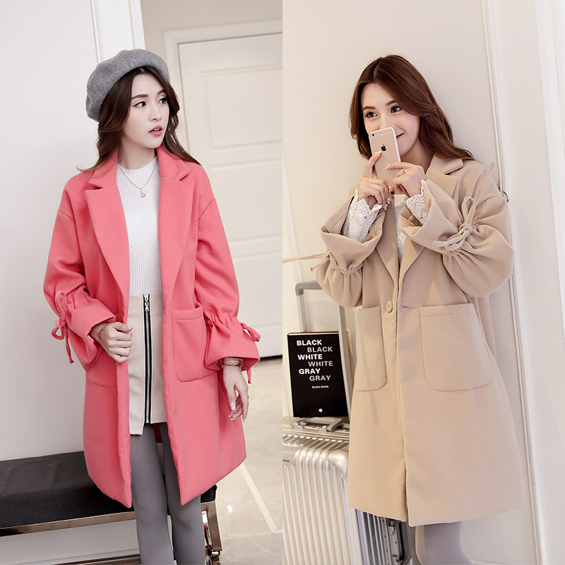 (make) new winter cloth coat pregnant female woolen cloth coat pregnant women with thick cloth coat