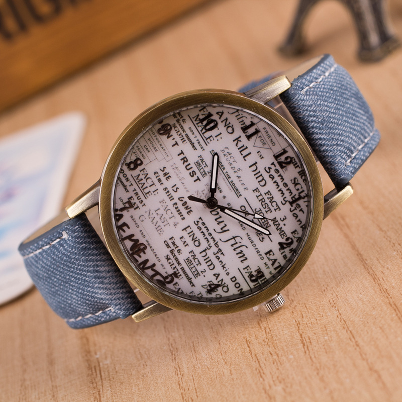 Cay Old Newspaper Dial Women Watch Fashion Casual Ladies Watches Female Clock Quartz Wristwatches Relogio Feminino