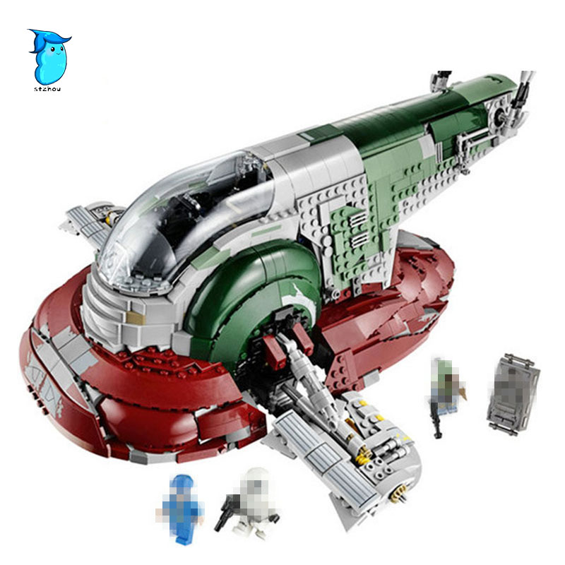 StZhou LEPIN 05037 Star Classic Series Wars Slave UCS I Slave NO.1 Model 2067Pcs Building Block Bricks Toys Compatible Boy Gifts lepin 05037 ucs slave toys no 1 model 2067pcs star wars building block bricks toys kits compatible legoing 75060 children hediye