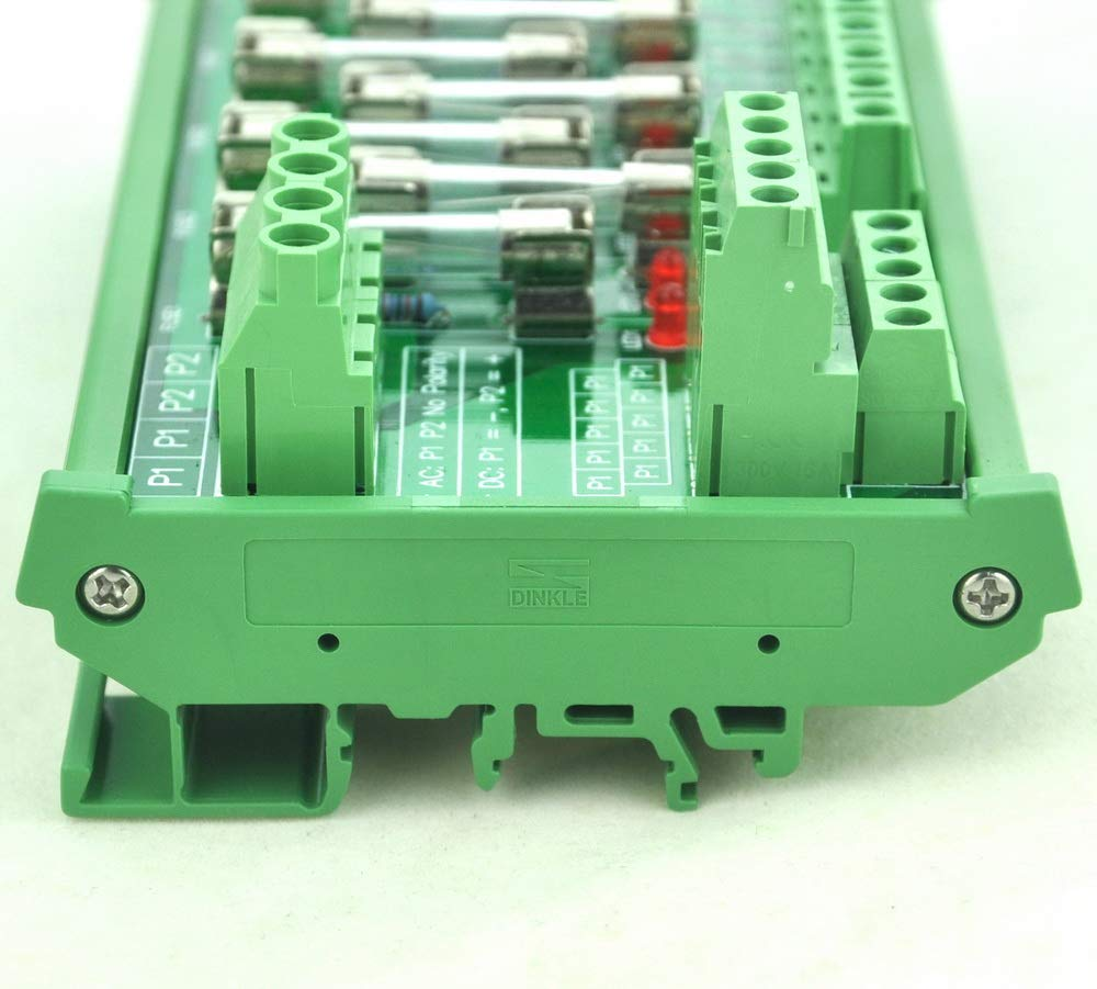 Electronics-Salon DIN Rail Mount 10 Position Power Distribution Fuse Module Board For AC//DC 5~48V .