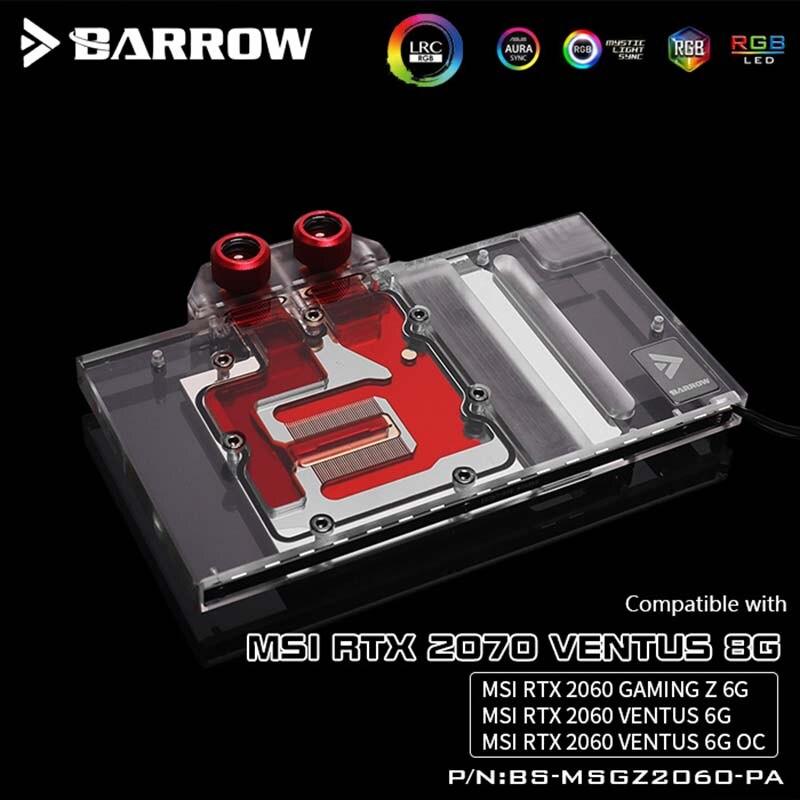 Brouette GPU bloc d'eau pour MSI RTX 2070 Ventus 8G/RTX 2060 Gaming Z Ventus 6G couverture complète carte graphique refroidisseur d'eau