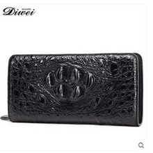 diwei 2017 new hot free shipping men really crocodile wallet long high-grade leisure men wallet authentic crocodile clutches