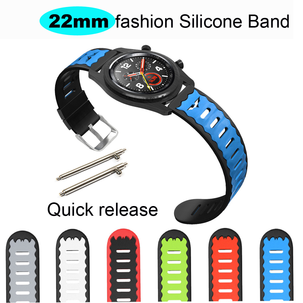 Image 2 - 22mm Bracelet Band For Huawei GT Honor Magic Dream Watch Strap For Xiaomi Amazfit GTR 47mm Pace Stratos WristBand For Samsung S3-in Smart Accessories from Consumer Electronics