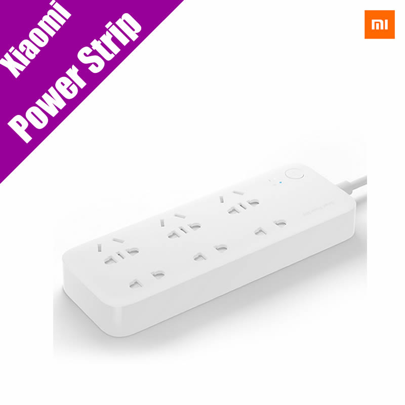 Original font b Xiaomi b font Smart Power Strip Intelligent 6 Ports WiFi Wireless Remote Power