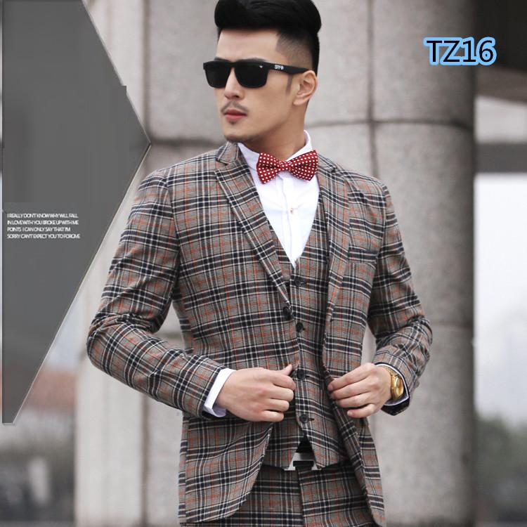 Online Shop AIMENWANT 20colors men's 3piece suits British boutique ...