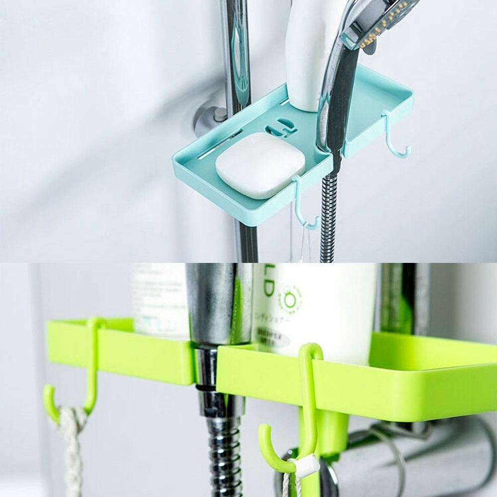 Newest Home Bathroom Plastic Shower Durabel Storage Rack Shampoo ...