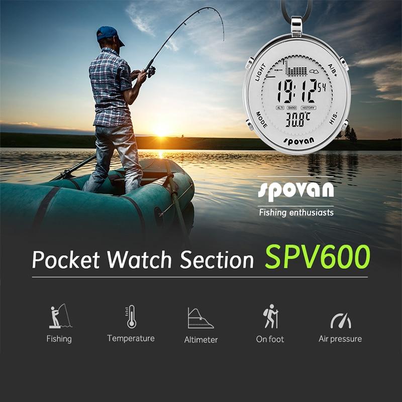 HOT Fishing Pocket Watch Multifunctional EL Backlight Water Resistant Meter Barometer Thermometer Wristwatch