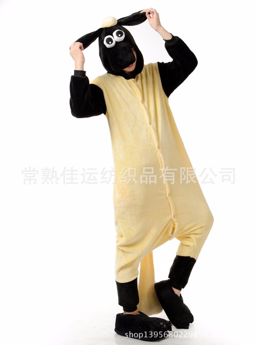 Moda hombres/mujeres animal onesies mascotas pijamas/pijama Shaun la ...