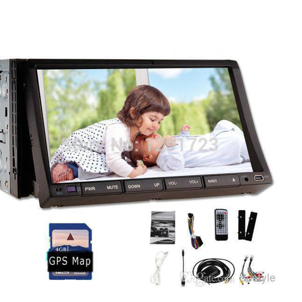 Analog tv Car Radio Double <font><b>Din</b></font> Car DVD Player GPS Navigation In dash car-styling Car PC Stereo Head Unit video+Free 8GB Map card image