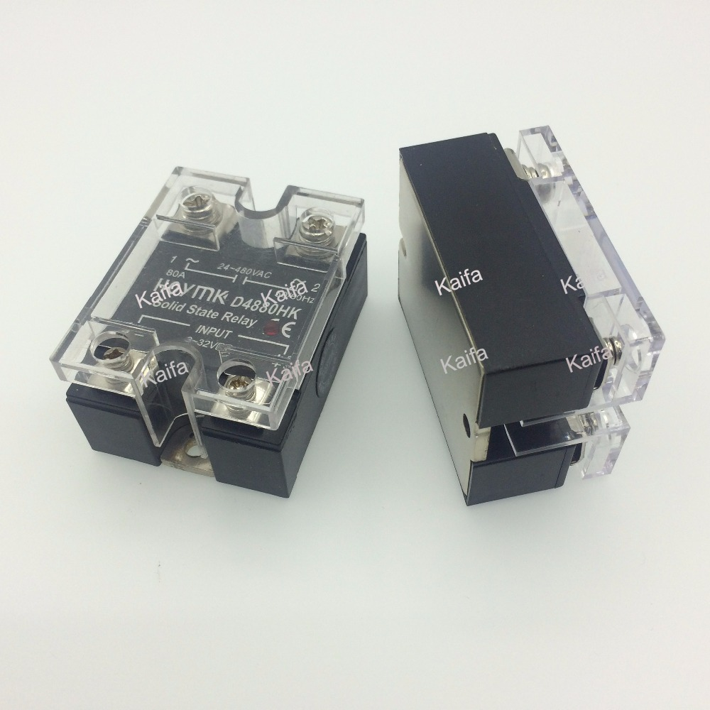 цена на wholesale genuine Solid State Relay  SSR-D4880HK 80A  24-480VAC