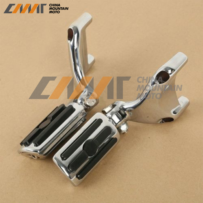Chrome Footpeg Mount & Foot pegs Footrests For Harley Sportster XL 883 1200 04-13