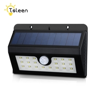 1pc Outdoor Garden Fence Wall 20 LED Solar Powered Waterproof Wireless Security Motion Sensor Light Lamp