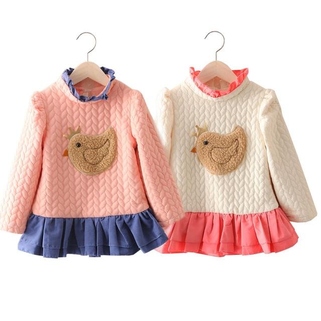 7763833ad1c Mudkingdom winter dress baby girls dress lovely chicken children baby kid girls  dress children s clothing new hot