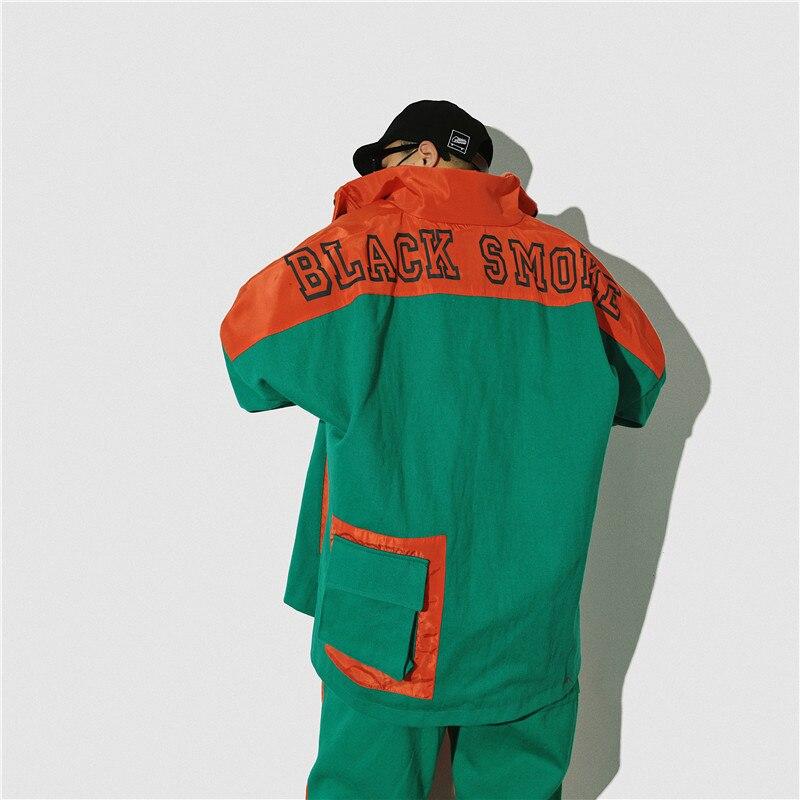 Pants Élastique Vestes Lâche black Pantalon Ensemble Avec Mode Trop Hommes Et Orange Set Jacket Pièces Black Fret 2 black Taille De Veste green Green Manteau Ensembles Pants Hanche green Jacket Patchwork Militaire Poche Hop green Set ZPaxqf
